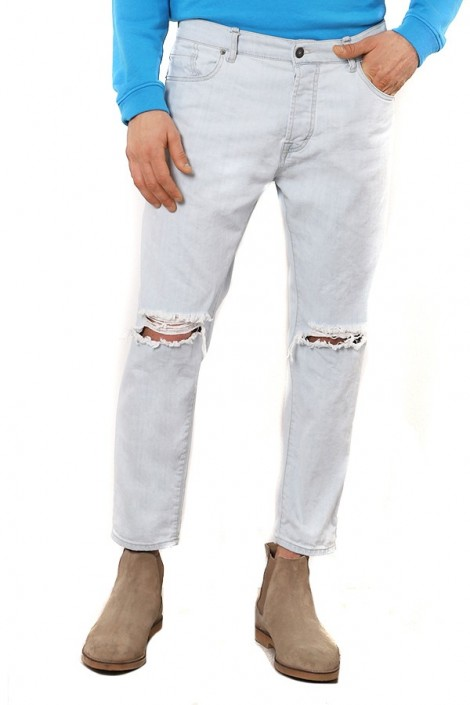 IMPERIAL Jeans cropped strappato