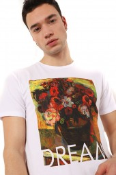 IMPERIAL T-shirt with flower vase print