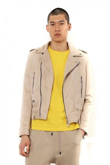 IMPERIAL Suede jacket and zip