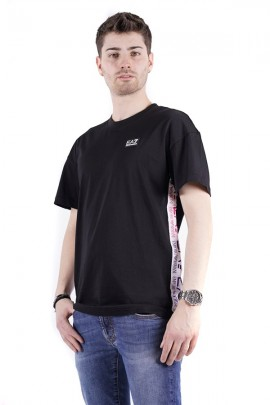 EA7 T-shirt with side logo band