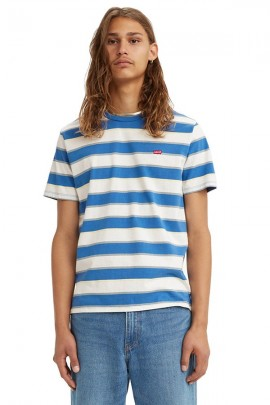 LEVIS T-shirt a righe larghe e micrologo