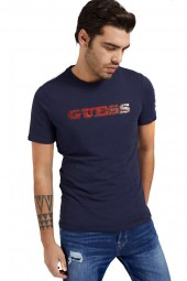 GUESS T-shirt with mural logo print