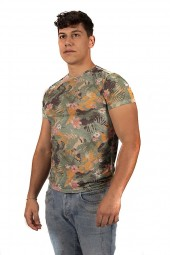 FIFTY FOUR T-shirt with flowers print