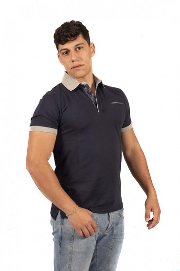 FRED MELLO Polo shirt with contrasting pocket and collar