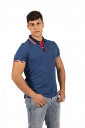 FRED MELLO Polo shirt with contrasting collar