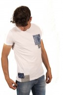 FIFTY FOUR T-shirt with patterned pocket