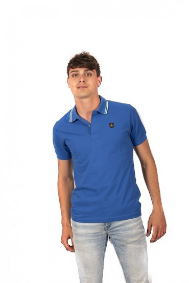 REFRIGIWEAR Polo shirt with fluorescent contrasts