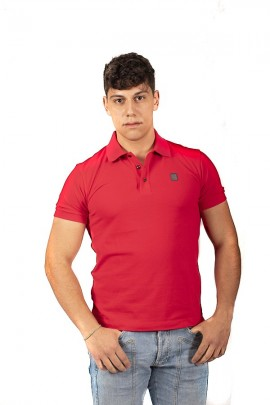 REFRIGIWEAR Polo shirt with contrasting logo and undercollar