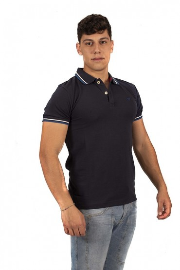 FRED MELLO Polo with contrasts