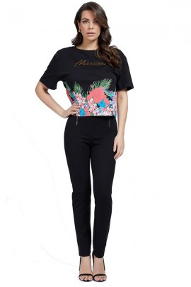 MARCIANO T-shirt with flowers and logo print