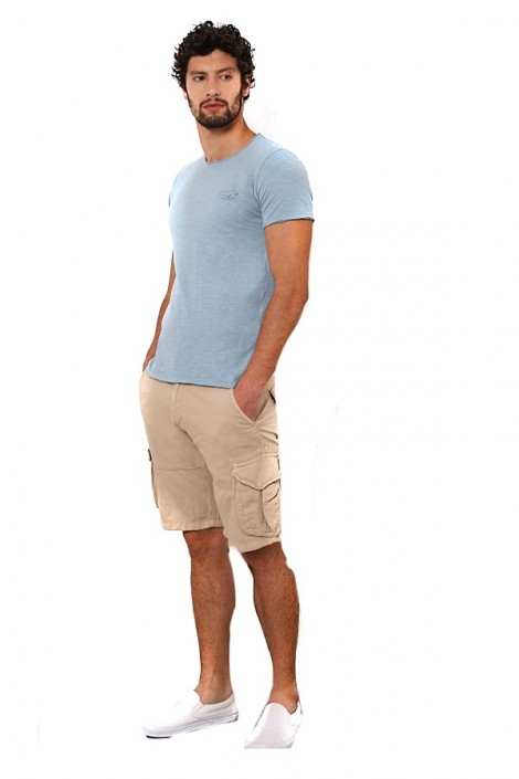 IMPERIAL linen bermuda shorts with large pockets