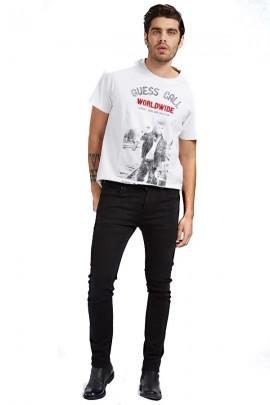 GUESS Superenge schwarze Jeans