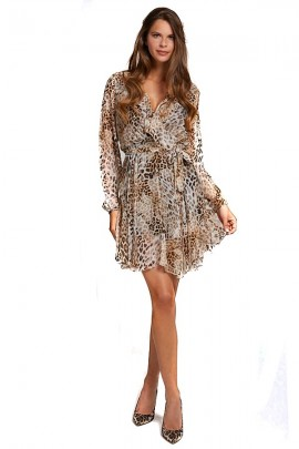 GUESS Spotted dress in silk blend