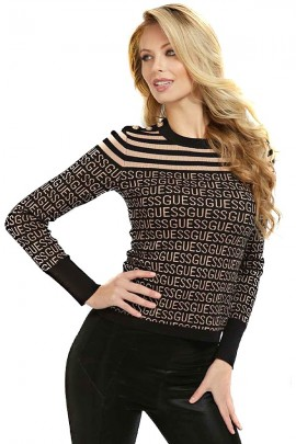 GUESS Micro-patterned crewneck sweater