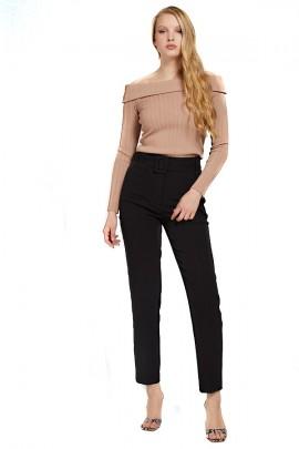 GUESS Hose mit Gürtel und hoher Taille