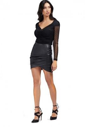 Minifalda de cuero sintético GUESS