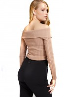 GUESS Off-the-shoulder neckline sweater