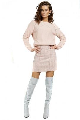 GUESS Pullover mit Schulterknöpfen