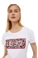 LIU JO T-Shirt mit Blumenlogo