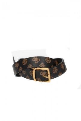GUESS Cinturón de doble cara con hebilla dorada