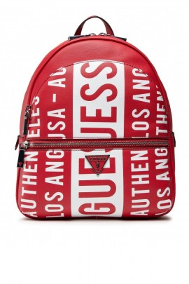 GUESS Logo leather backpack