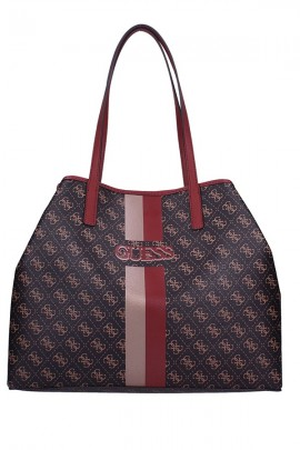 GUESS Large micrologated bag and two-tone strip