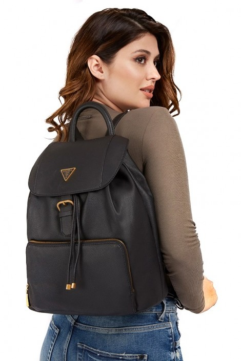 GUESS Backpack in hammered leather