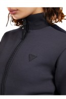 GUESS Sweatshirt mit Reißverschluss und Logoband