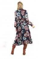 KOCCA Long floral dress and belt