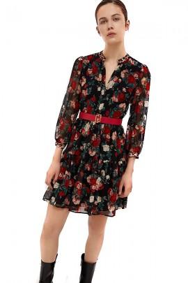 LIU JO Vestido corto con estampado de flores