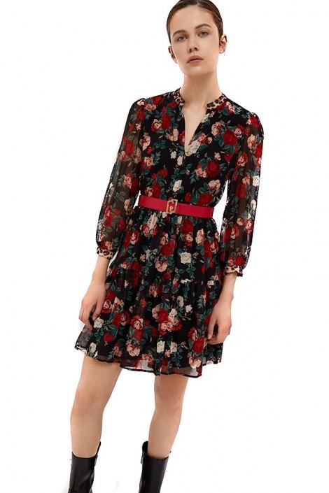 LIU JO Short flower print dress