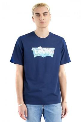 LEVIS T-Shirt mit Wolkendruck-Logo
