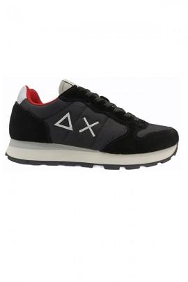 SUN 68 Basic shoe with logo - BLACK