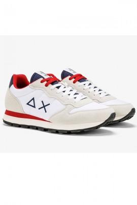 SUN 68 Basic shoe with logo - WHITE
