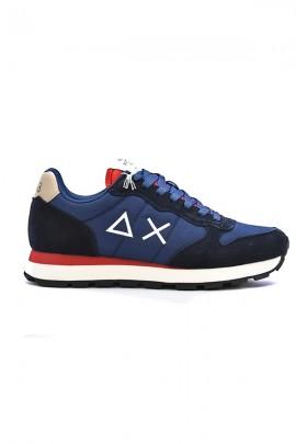 SUN 68 Basic shoe with logo - BLUE