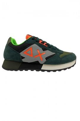 Zapatillas deportivas SUN 68 bicolor y logo max fluo - MILITARE