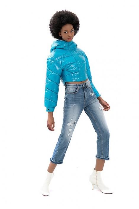 FRACOMINA Jeans cropped con rotos