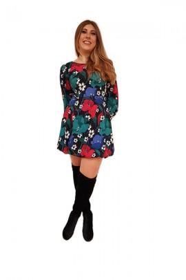 FRACOMINA Floral dress and belt