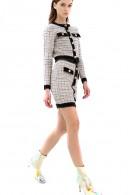 FRACOMINA Minifalda con micro estampado