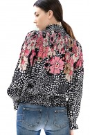 FRACOMINA Patterned blouse and neck curl