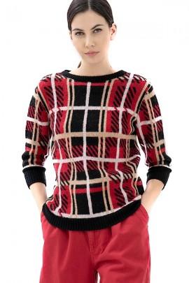 FRACOMINA Quadratischer Pullover mit Muster