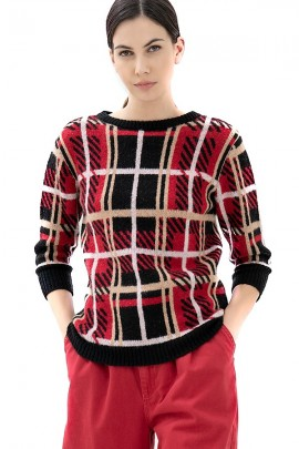 FRACOMINA Square patterned sweater