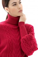 FRACOMINA Sweater with braids and high collar