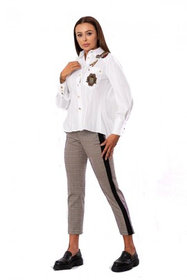 FRACOMINA Hose mit Mikromuster und Seitenband