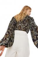 Blusa plisada de LIU JO con estampado de flores