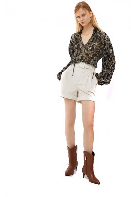 LIU JO Plisset blouse with flowers pattern