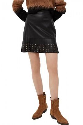 Minifalda LIU JO en piel y tachuelas