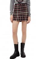 LIU JO Check patterned boucle skirt