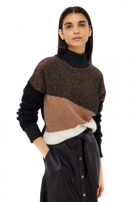 LIU JO Ribbed turtleneck sweater