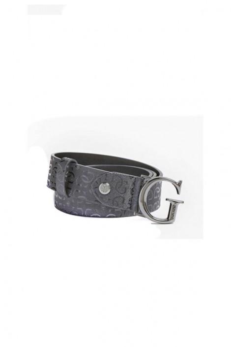 Cinturón con micro-marca GUESS y hebilla G metálica